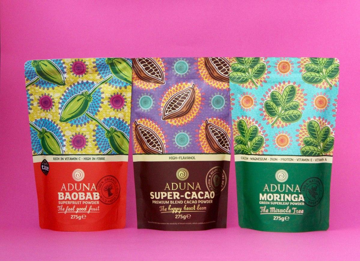 Aduna Baobab, Moringa, Super Cacao