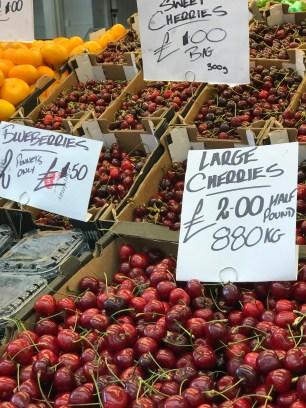 Cardiff Indoor Market Cherries