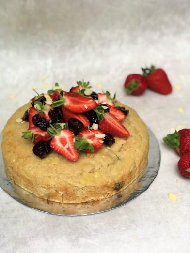 Cherry Almond Bakewell Cake