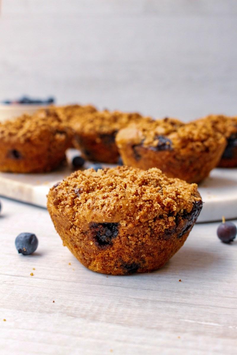 Peanut butter blueberry muffins