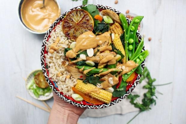 Thai Style Stir Fry with Peanut Satay Sauce