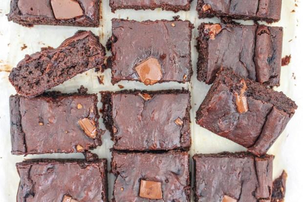 Fudgy Chocolate Avocado Brownies