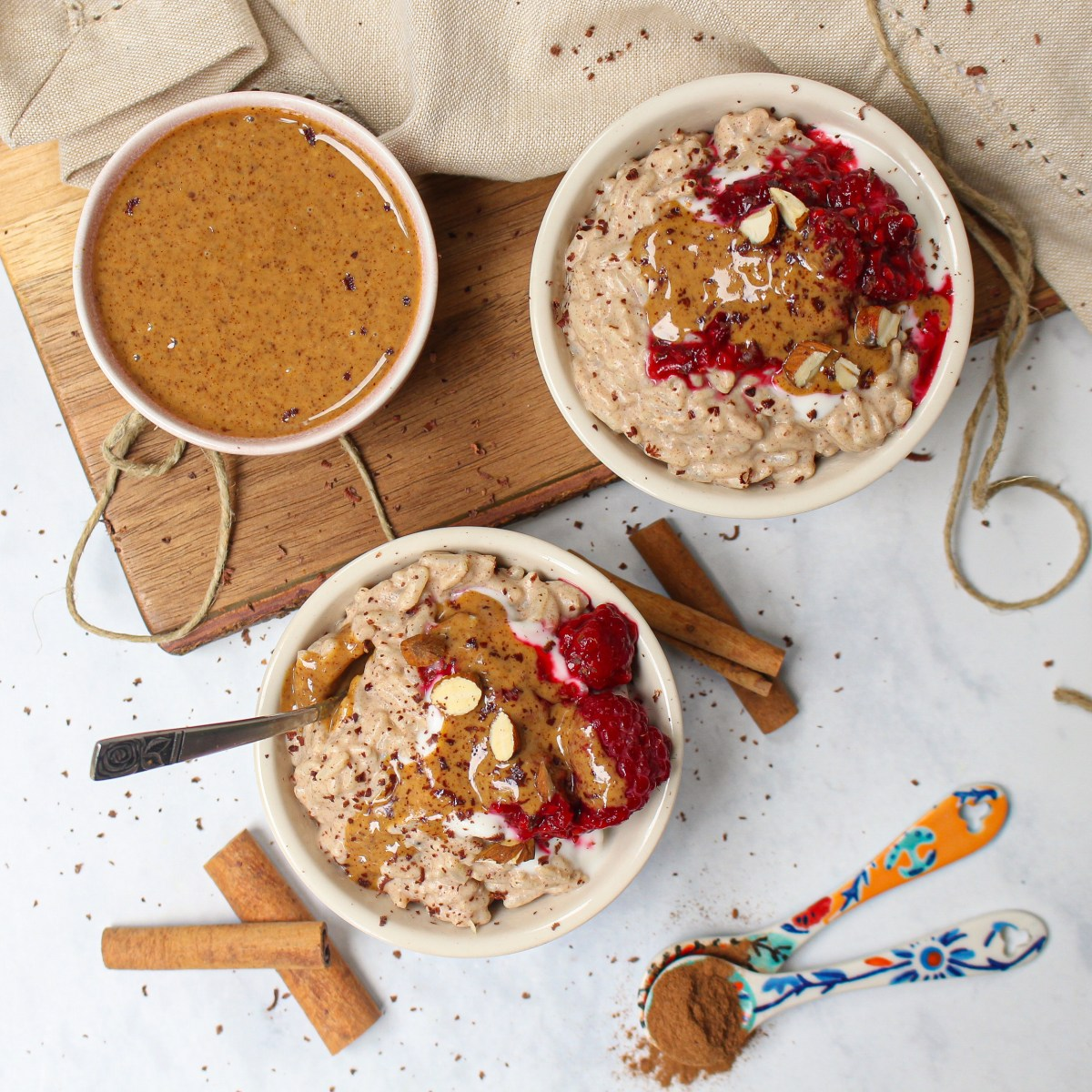 Almond and Cinnamon Rice Porridge