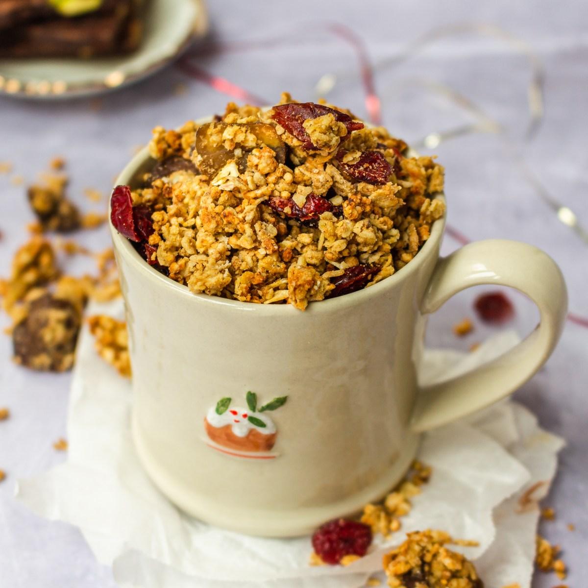 Cranberry and Chesnut Granola