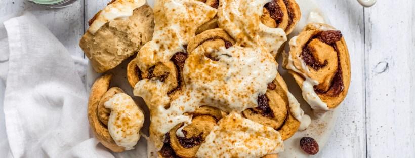 Cinnamon Raisin No Yeast Swirl Buns
