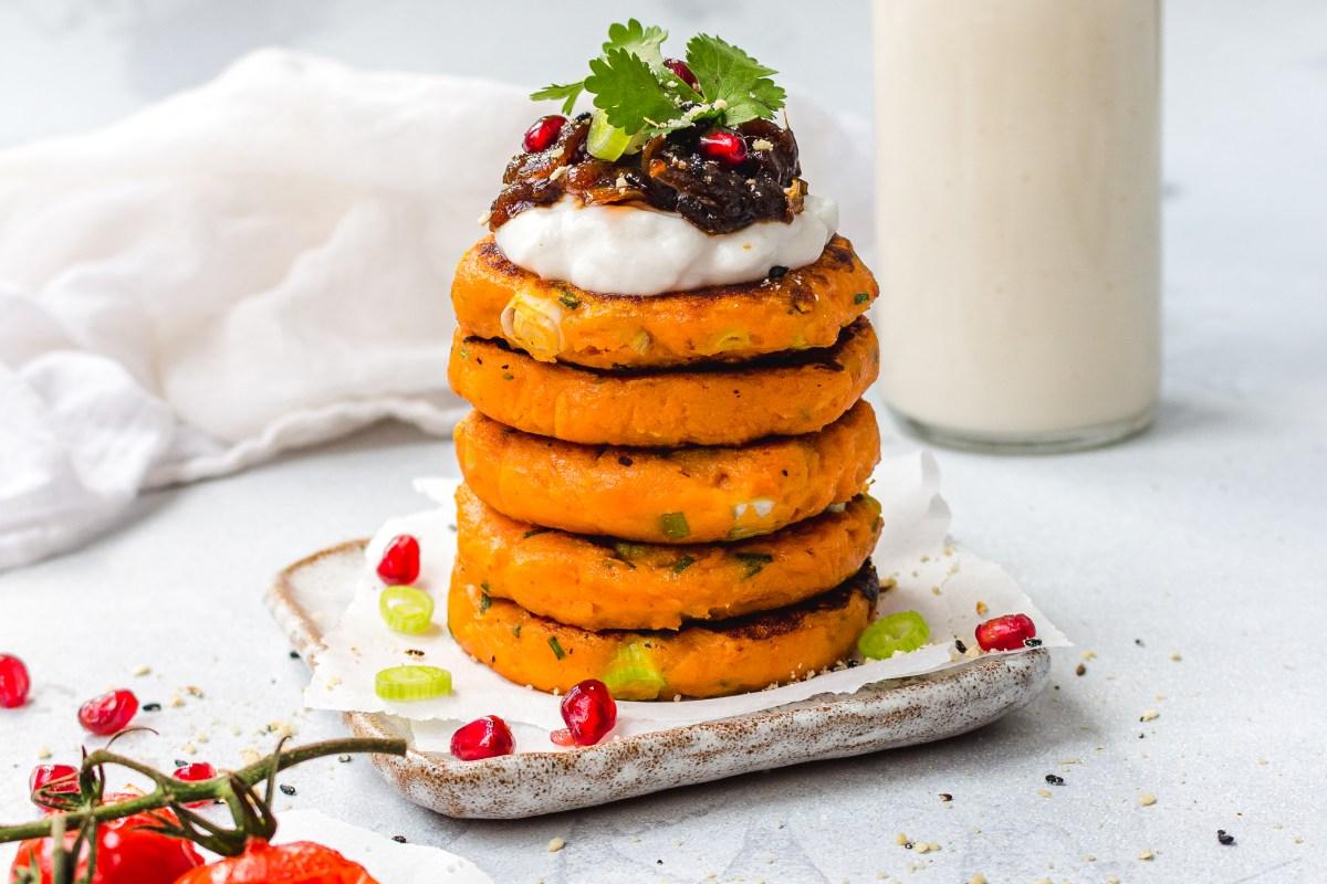 Breakfast Potato Cakes with Chilli Jam