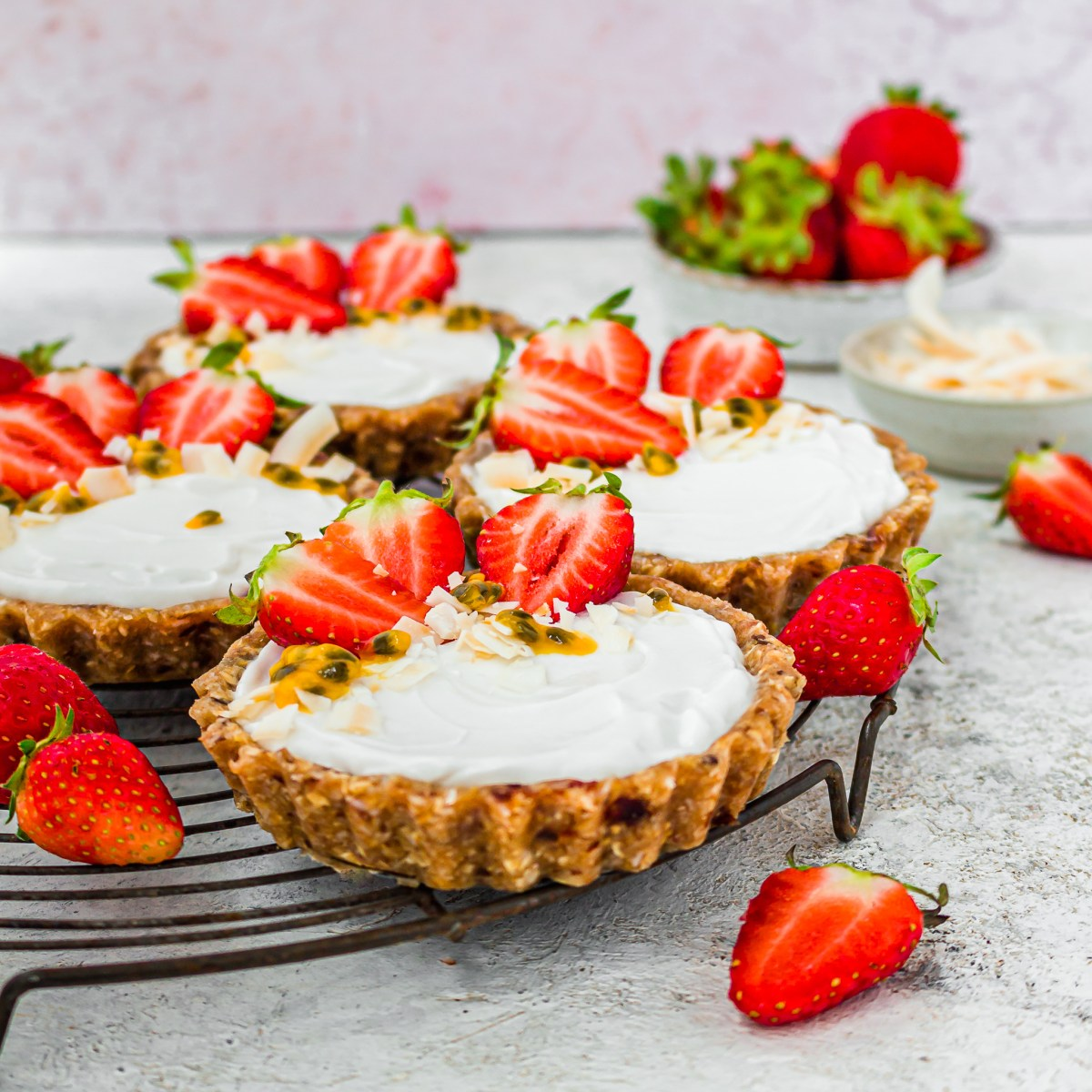 Strawberry and Coconut Tarts