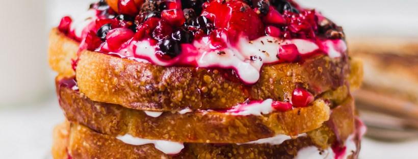 Vanilla Berry French Toast (Vegan)
