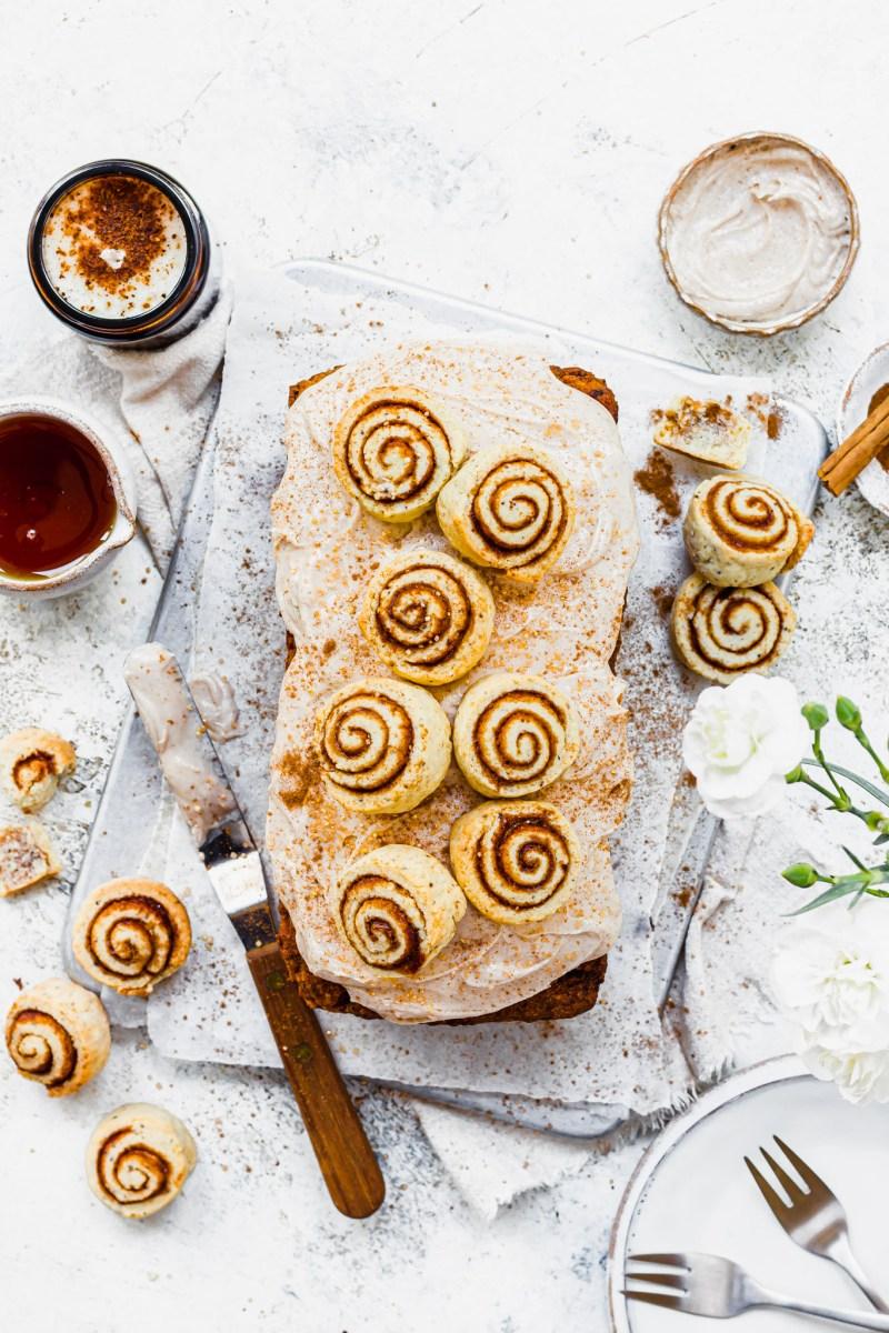 Cinnamon Roll Banana Bread