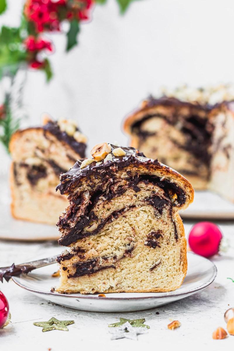 Vegan Chocolate Hazelnut Panettone