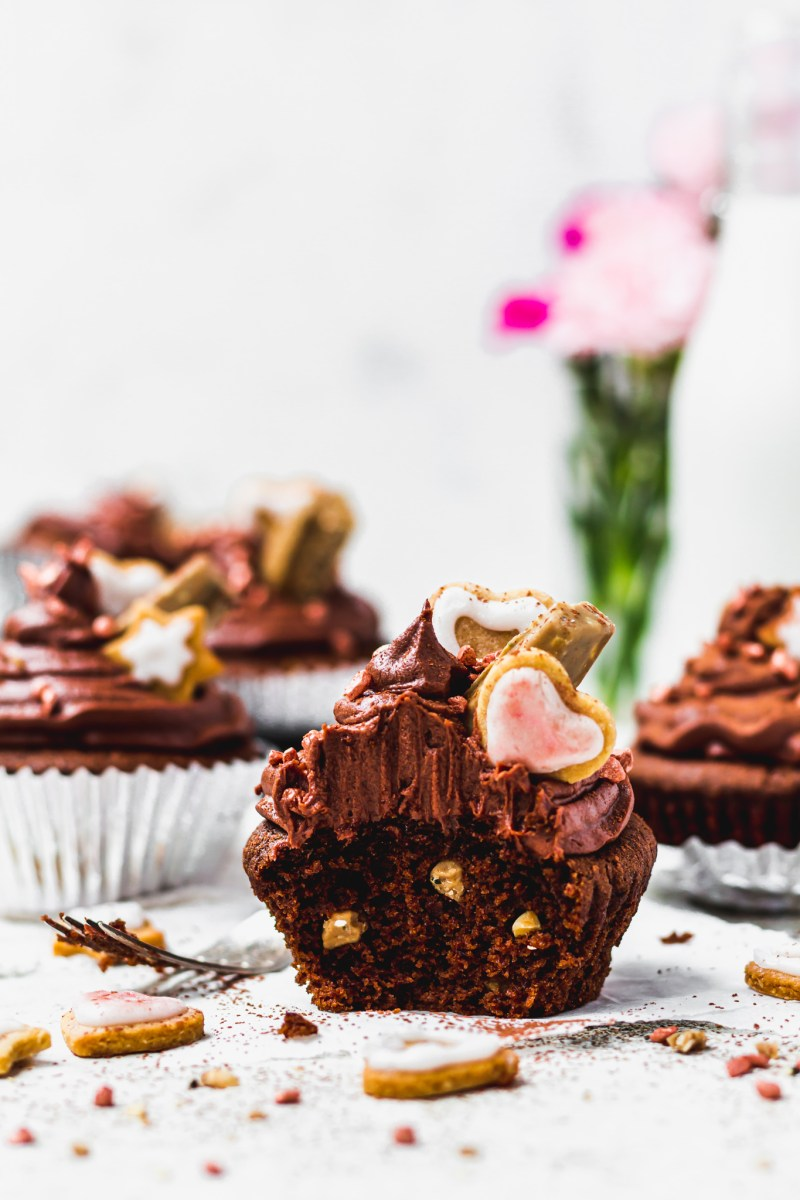 Vegan Triple Chocolate Cupcakes