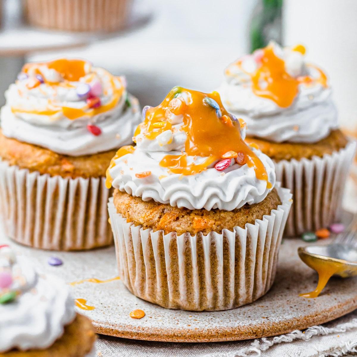 Carrot Cake Butterscotch Cupcakes