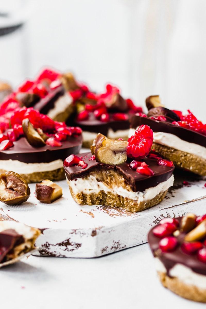 Mini Chocolate Chestnut Cheesecakes