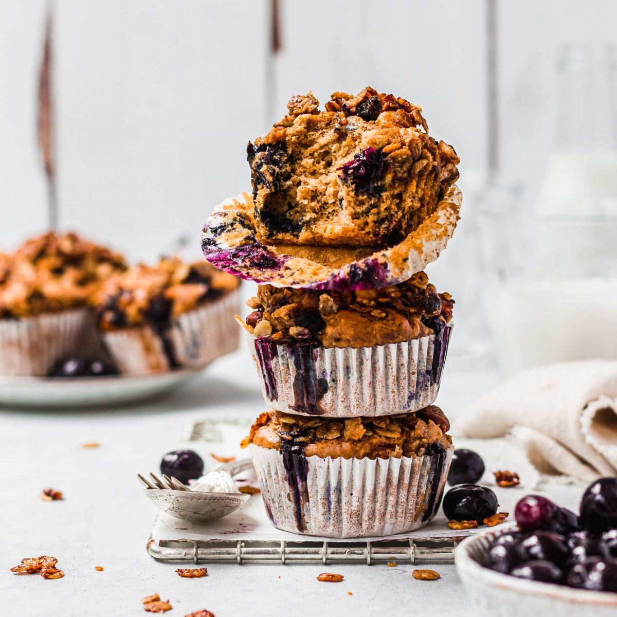 Nutty Blueberry Breakfast Muffins