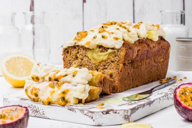 Lemon Passionfruit Banana Bread