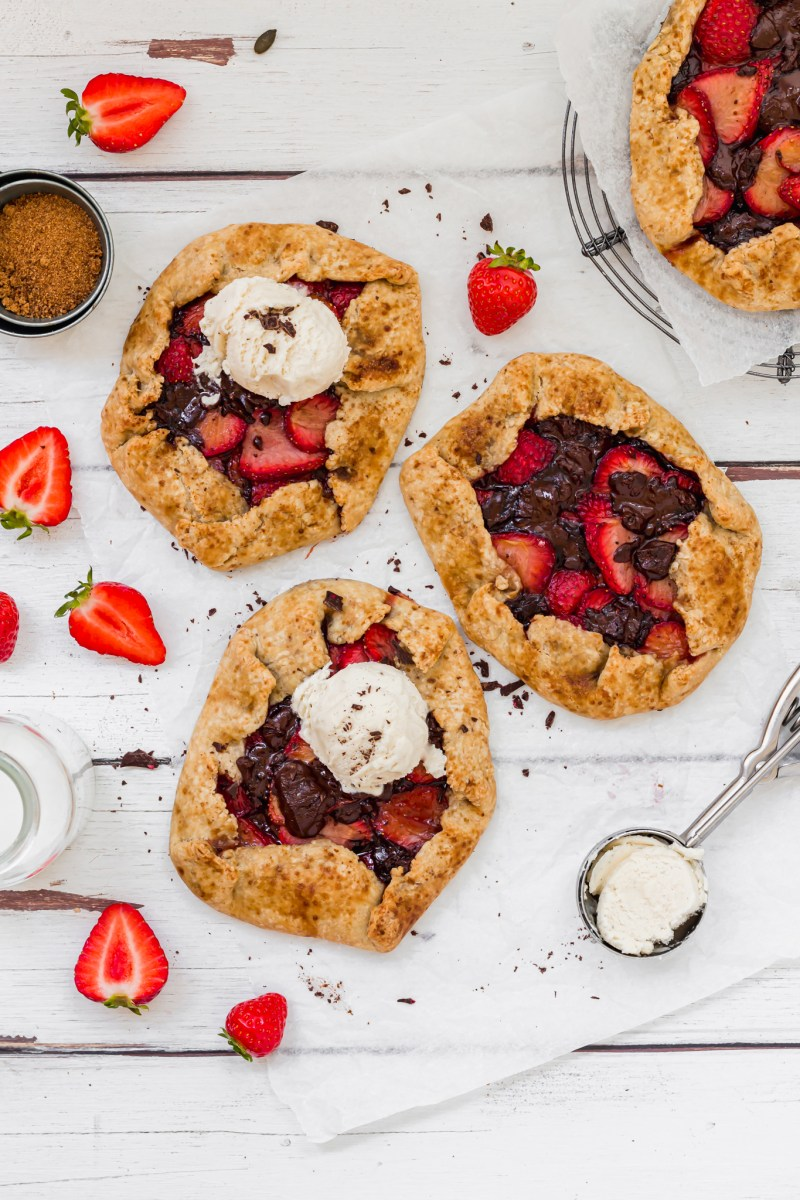 Strawberry Chocolate Galettes