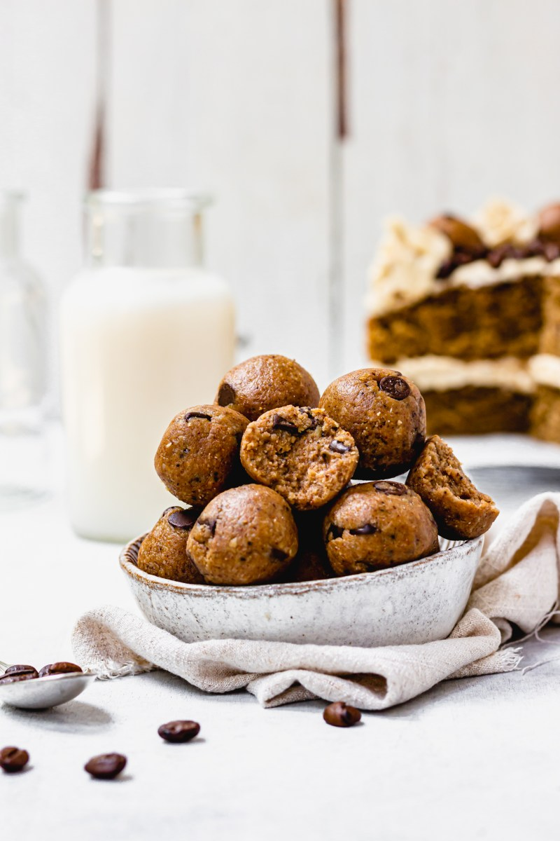 Coffee Cookie Dough Balls