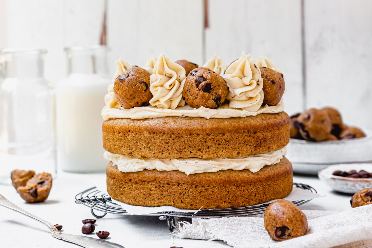 Coffee Cookie Dough Cake