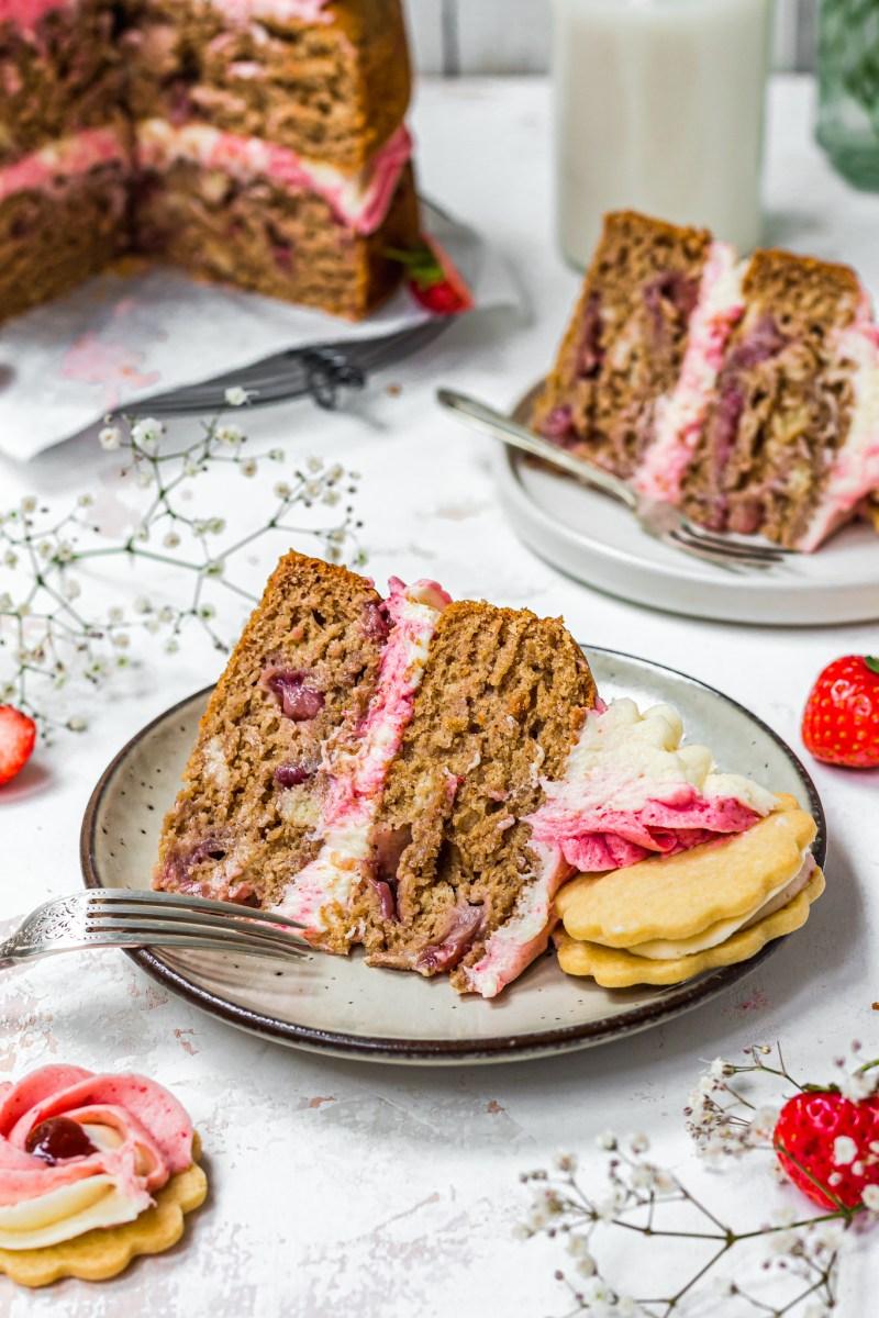 Strawberry Shortbread Banana Bread