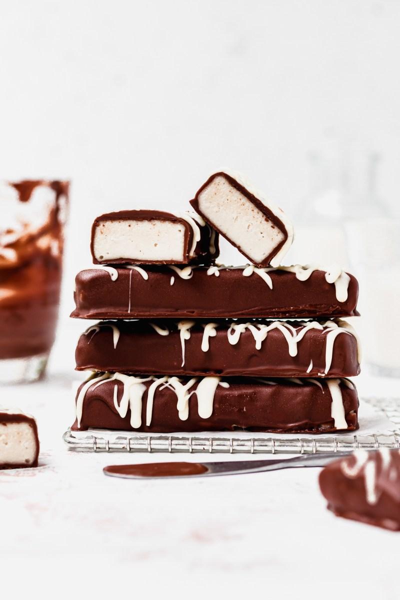 Vegan Chocolate Nougat Bars