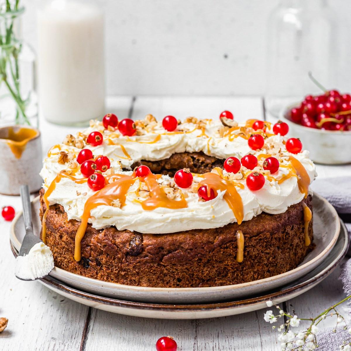 Square photo Carrot and Raisin Bundt Cake