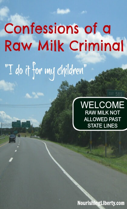 "Is there any food that is important enough to you that would break the law to access it? ""I personally help facilitate families who want to cooperate in the procurement of fresh milk. I, and a growing numbers of individuals, will continue to transport raw milk across state lines and make it available to anyone in Maryland who wants it. Peaceful farmers are criminalized for providing food to eager individuals while peaceful consumers are criminalized for obtaining the food of their choice from the producer of their choice."""