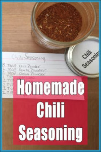 We used to use storebought chili seasoning but found it to be much too salty for our tastes. We now make our own homemade chili seasoning and absolutely ...