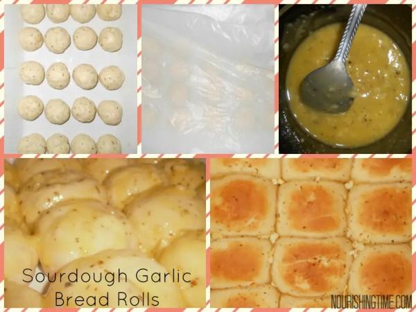 Step By Step Collage - Sourdough Garlic Bread Rolls