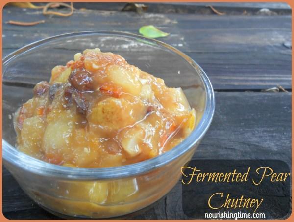 Fermented Pear Chutney