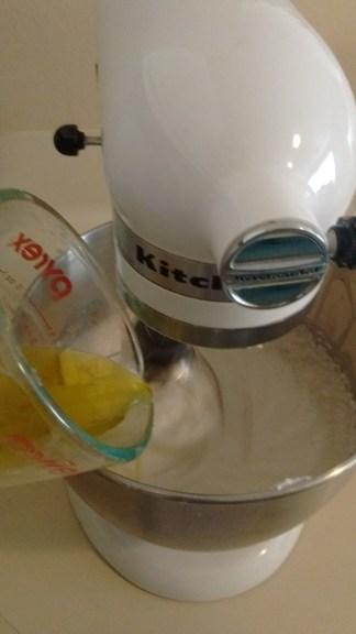 Add oil and vinegar