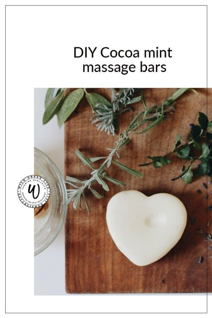 DIY cocoa mint massage bars