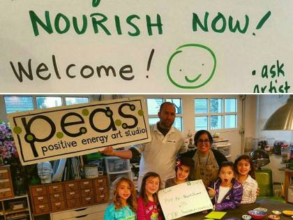 (THE TOWN COURIER) PEAS Artists Fundraise for Nourish Now