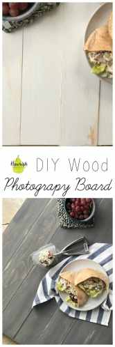 Step by step guide to your very own DIY Wood Photography Board | www.nourishnutritionblog.com