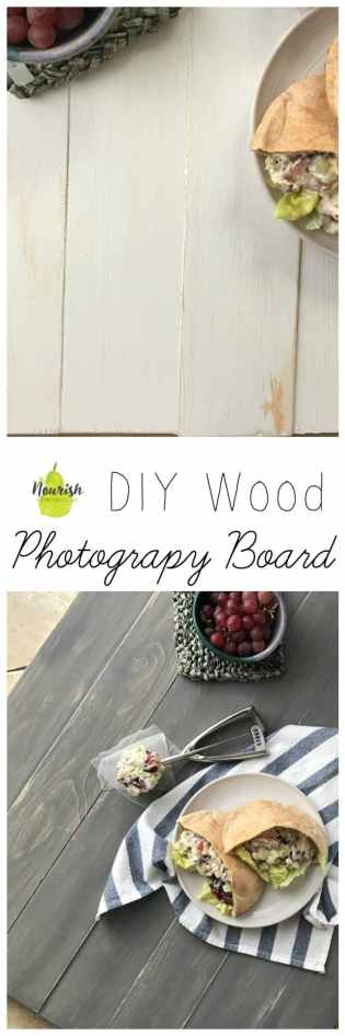 Step by step guide + pictures to your very own DIY Wood Photography Board | www.nourishnutritionblog.com