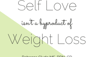 Dieting doesn't make you love your body | www.nourishnutritionblog.com