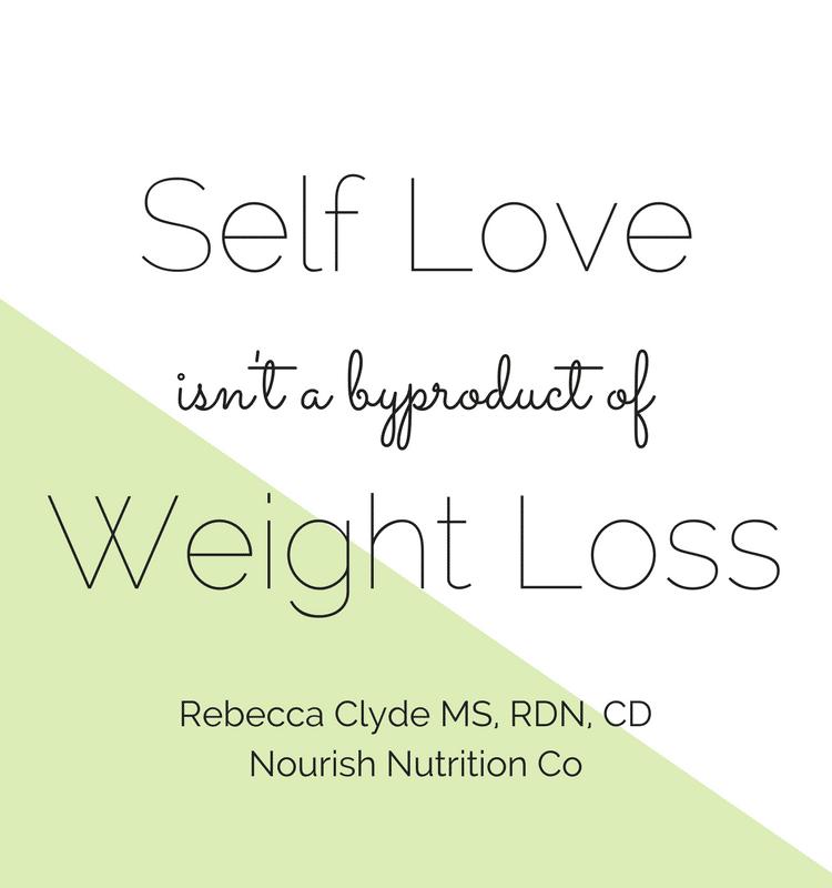 Dieting doesn't make you love your body | www.nourishnutritionblog.com