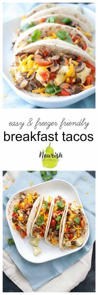 The Easiest Breakfast Burritos Recipe | www.nourishnutritionblog.com