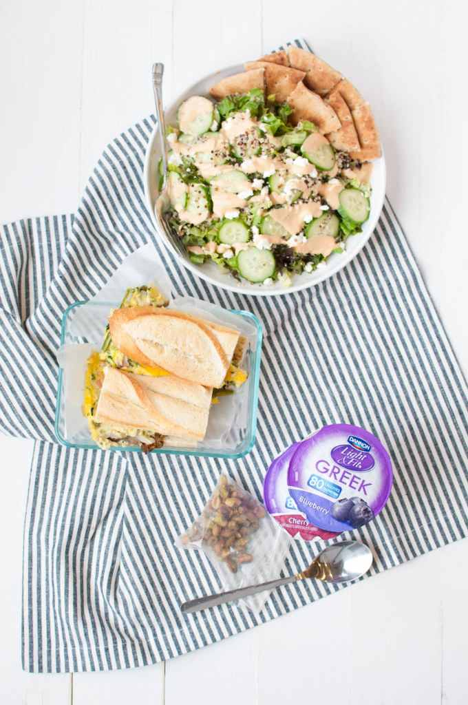 #ad How to Meal Prep with Dannon Light & Fit 2 | This registered dietitian nutritionist LOVES to incorporate Dannon Light & Fit into hermeal plan. Here's how you can add it to make eating nourishing breakfasts & snacks too easy. I mean, how could you not?#LightandFitRD #DoWhatFitsYou | www.nourishnutritionblog.com