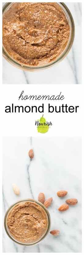 How to Make Almond Butter | www.nourishnutritionblog.com
