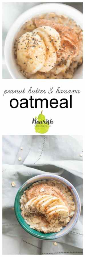 Peanut Butter Banana Oatmeal Recipe | A delicious, quick, and kid friendly breakfast will make you want to wake up in the morning