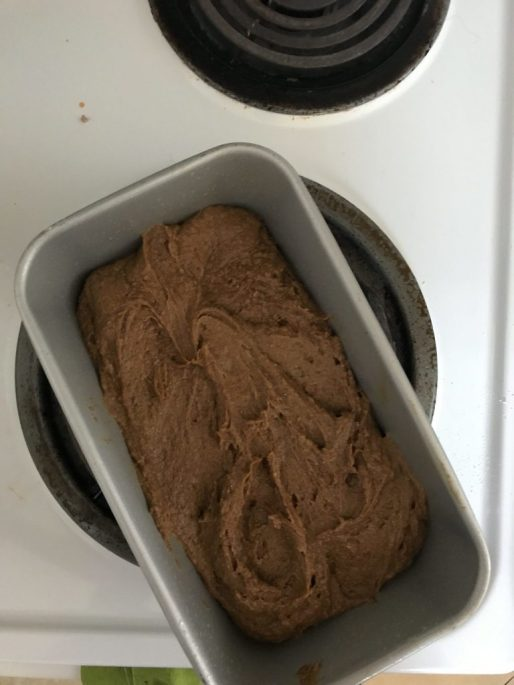 Gingerbread Poundcake Batter Ready to be Baked