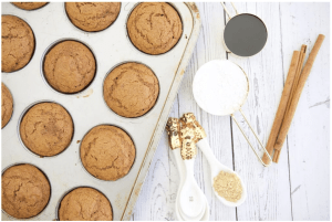 whole wheat gingerbread muffins via Make Healthy Easy