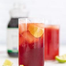 3 Ingredient Pomegranate Lime Spritzer | the easiest and most delicious holiday mocktail | + recommended additions for an equally easy adult beverage