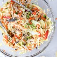 Easy 5 Minute Asian Coleslaw