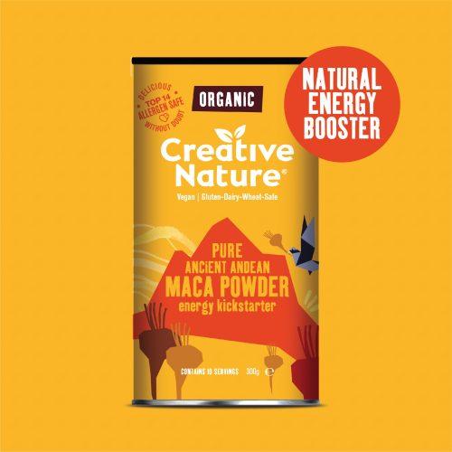 Creative Nature Organic Maca Powder (150g) - Vegan Allergen Safe Superfood Gluten-Dairy-Wheat-Soya-Free