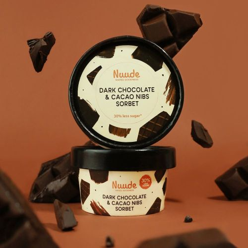 Nuude Dark Chocolate & Cacao Nibs Sorbet