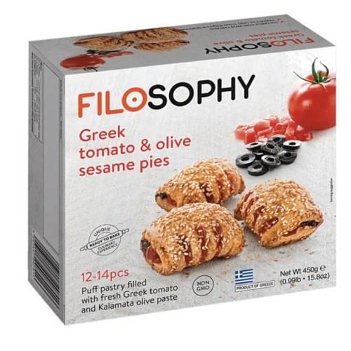 Filosophy Vegan Pies Greek Tomato & Olive Sesame