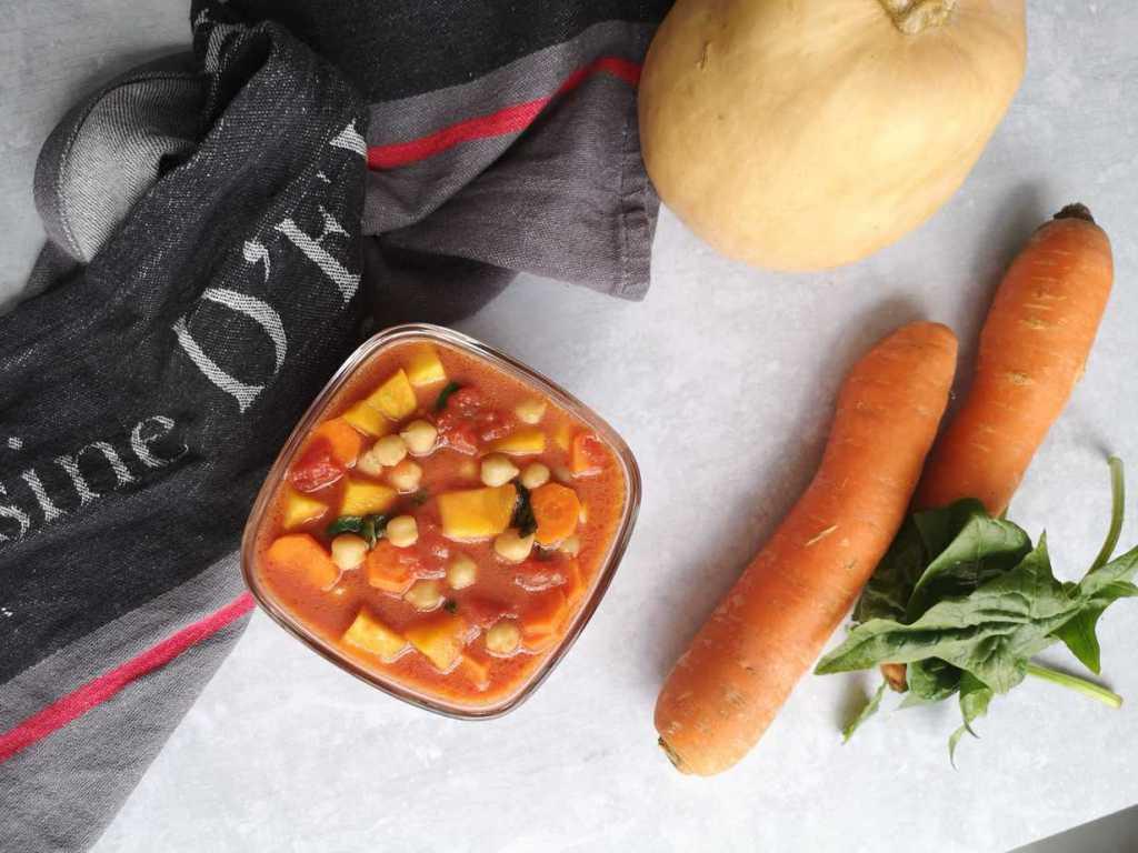 recette de curry butternut et carottes