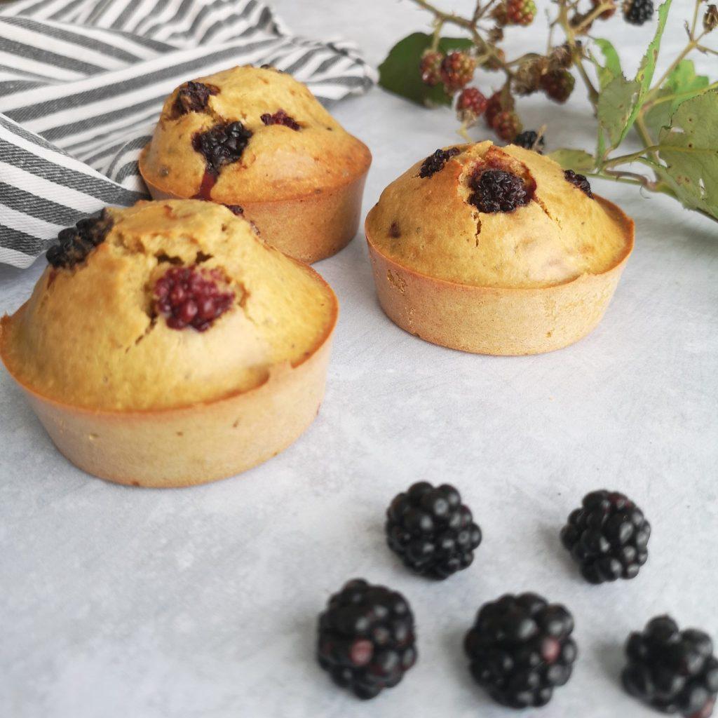 muffins sans gluten ni lait à la mûre