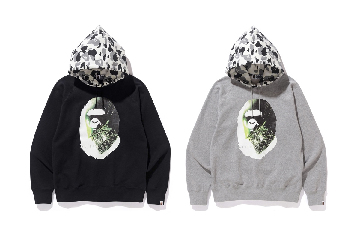 BAPE just released their collaboration with the 'Alien' Franchise